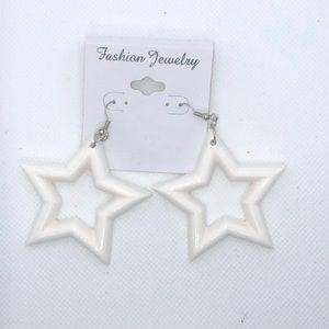 Rebecca Elizabeth Jewelry - So 90s White Star Earrings